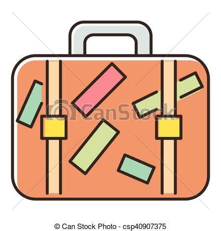 Koffer Aufkleber Reise by Vektoren Illustration Von Brauner Reise Ikone Aufkleber