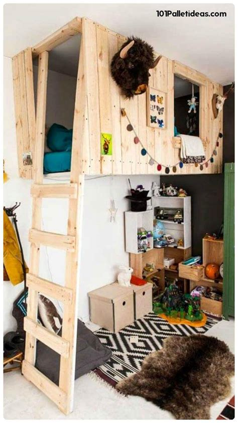 pallet loft bed 1000 ideas about pallet loft bed on pinterest lofted