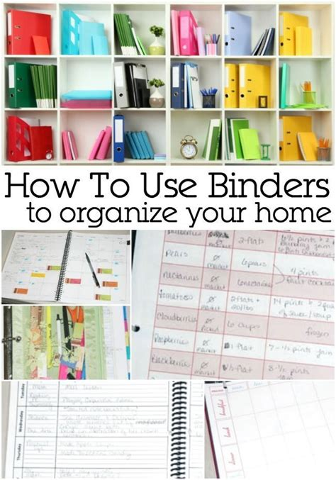 how to organise your home using a binder to organize your home home organizations