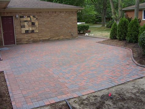 backyard ideas with pavers brick paver patio designs