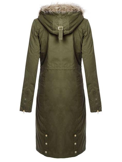 Coat Zipper Dea 7 brave soul womens oversized parka coat maxi length jacket