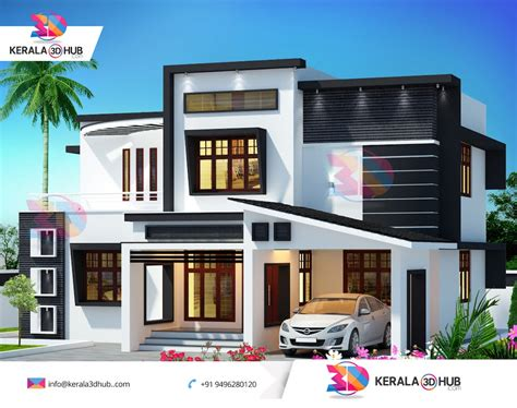 kerala house 3d elevation design studio design