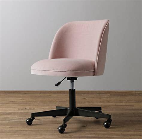 alessa velvet desk chair graphite
