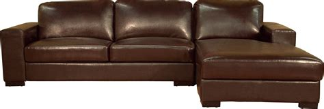 Shabby Chic Brown Leather Sectional Sofa With Chaise On