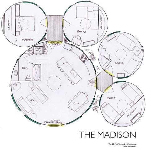 yurt home floor plans yurt floor plan madison alternative housing pinterest