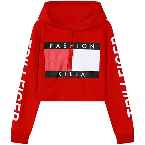 design crop top hoodie womens cropped hoodies 2017 new fashion short design