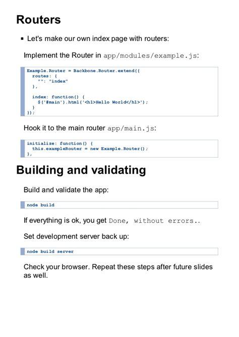 node js backbone tutorial a backbone js tutorial for the impatient part 1