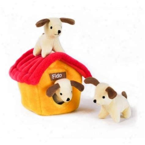 plush dog house zippy burrow dog house squeaky plush hide and seek dog toy dogs care pet care live
