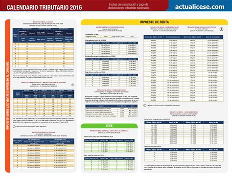 calendario declaracion exogena 2016 calendario tributario 2016 regalo by canal lopez sas issuu