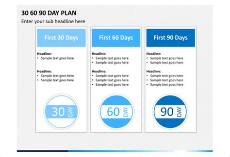 30 60 90 day plan powerpoint template 30 60 90 day plan template 18 free word pdf ppt