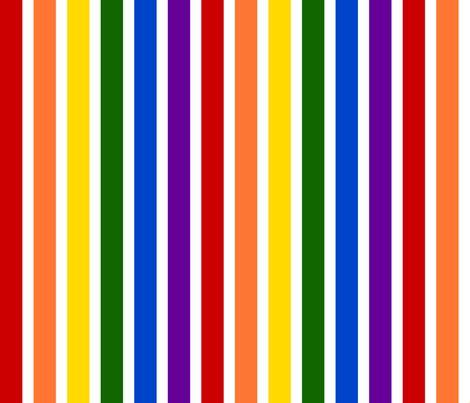 Rainbow Stripe rainbow stripes bright colors fabric joyfulrose
