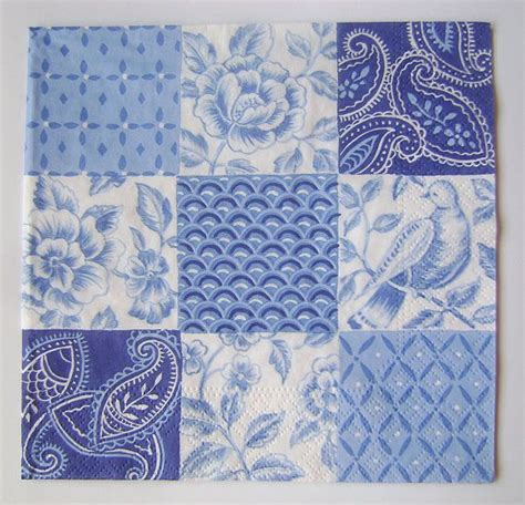 white napkin pattern blue white paper napkin for decoupage scrapbooking mixed