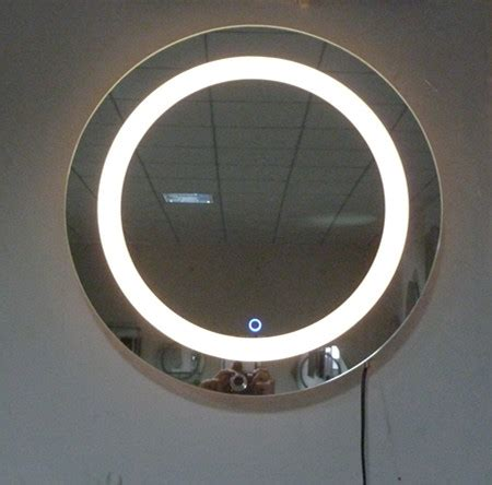 round bathroom mirror with lights 600 round belt led bathroom mirror lighting mirror glass