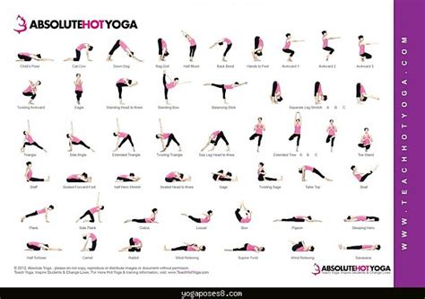 Printable Yoga Chart | hot yoga poses chart yoga poses yogaposes com