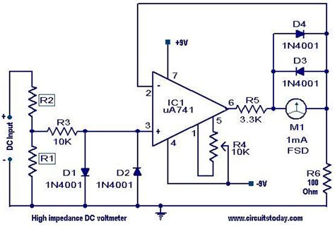 circuit diagram voltmeter wiring diagram with description