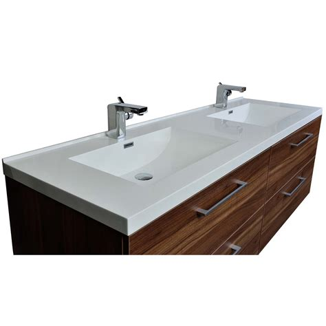 67 Bathroom Vanity Camino 67 In Modern Vanity Set Wall Mount In Walnut Optional Mirror Tn A1710 Wn