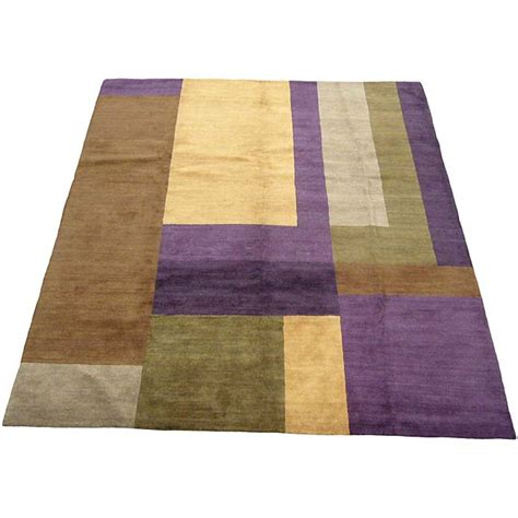 brown and purple rug tibetan knotted purple brown rug 8 x 10 11217979 overstock shopping great