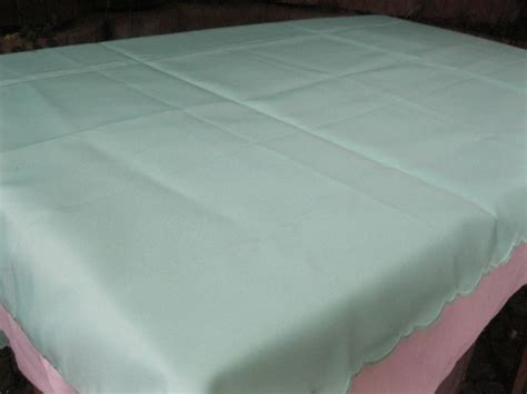 Decke 90 Grad Waschbar by Tischdecke 130 X 170 Hellgr 252 N Mint Gebogter Rand Polyester