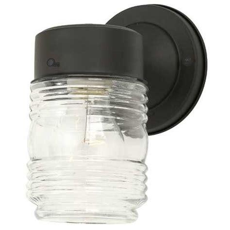 design house jelly jar light jelly jar outdoor wall light clear glass black finish