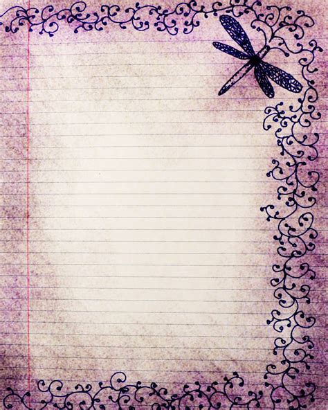 printable vintage notebook paper 6 best images of vintage printable stationary paper free