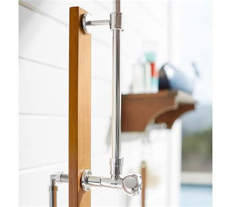 Shower Wall Mount outdoor shower wall mount shower shelf pottery barn
