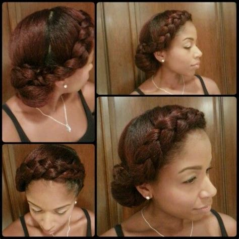 bun with swoop braids hairstyle how to do two goddess braids short hairstyle 2013