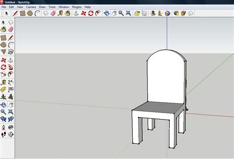 google chair how to make a chair on sketchup 9 steps with pictures
