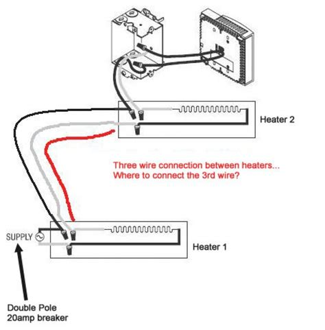 wiring an electric baseboard heater with thermostat baseboard heater thermostat wiring diagram wiring