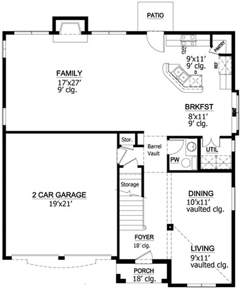vaulted ceiling floor plans vaulted ceilings 36257tx architectural designs house