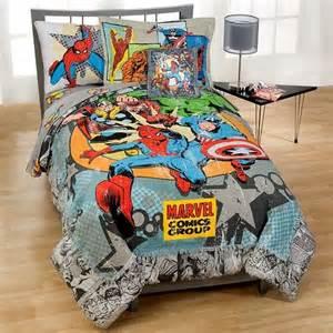 Marvel Heroes Bedding Sets Marvel Vintage Comics Bedding In A Bag Set Koren S