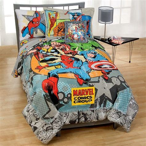 Marvel Bed Set by Marvel Vintage Comics Bedding In A Bag Set Koren S Bedroom Bags