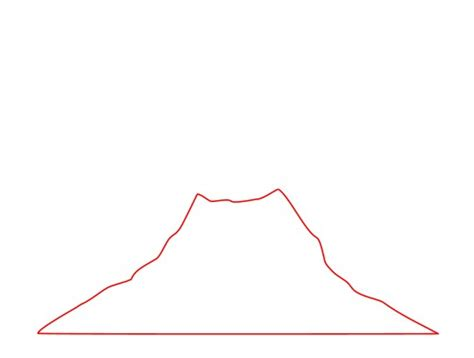 volcano outline template drawing a volcano