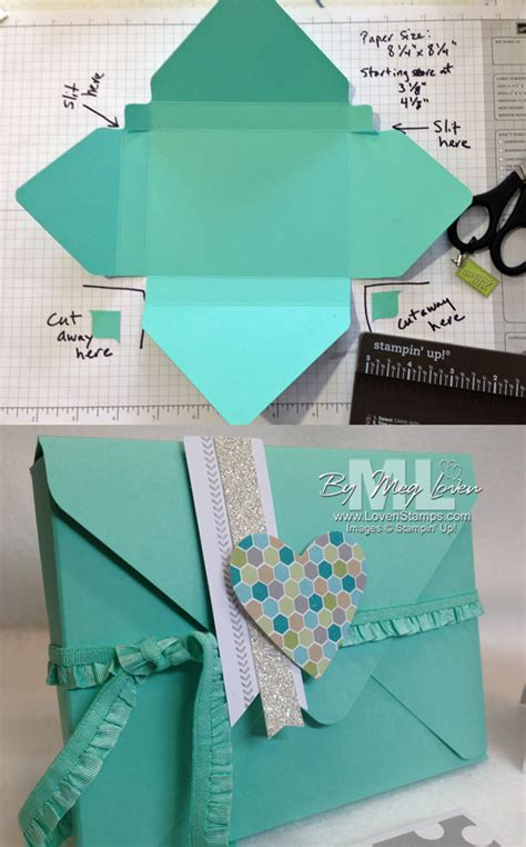 How To Make An Envelope Out Of Wrapping Paper - envelope punch board card box tutorial lovensts