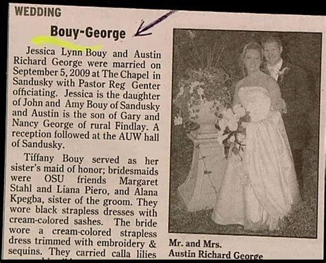 wedding announcement last names my pointless more unfortunate name combinations wedding