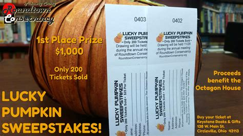 Sweepstakes Lucky - lucky pumpkin sweepstakes roundtown conservancy
