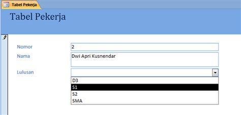 cara membuat menu dropdown di excel 2010 membuat menu list pilihan drop down di form m access
