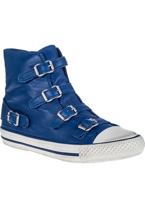 cobalt blue sneakers ash sneaker cobalt leather in blue lyst