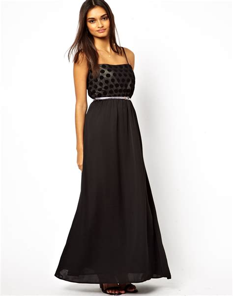 jarlo belted maxi dress in black lyst