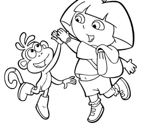 dora blank coloring pages dora and boots colouring pages coloring page purse