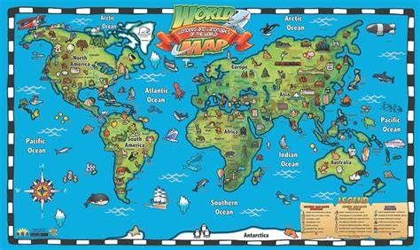 kid s world map interactive wall chart products new