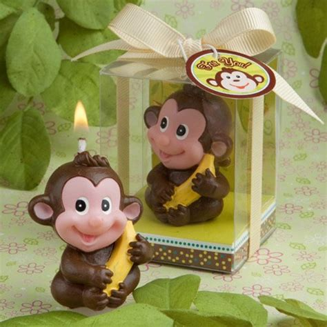 monkey candle favor monkey birthday party candle favors