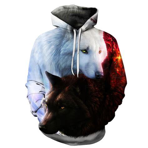 Hoodie Wolf wolf printed hoodies 3d hoodies sweatshirts jackets quality pullover fashion