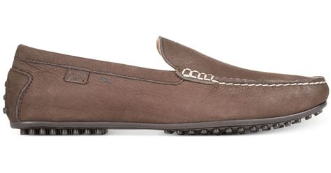 Sandal Pria Navara Woodley Brown 1 polo ralph woodley drivers in brown for lyst