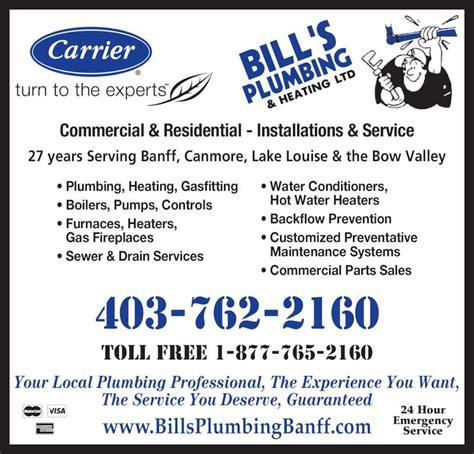 Hawk Heating And Plumbing by Bill S Plumbing Heating Ltd Banff Ab 200 Hawk Ave