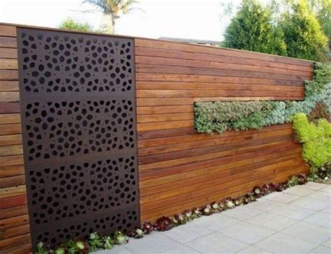 idea for wood metal mix decorations 34 privacy fence design ideas to get inspired digsdigs