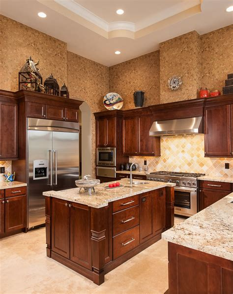 wood for kitchen cabinets dark wood kitchen cabinets kitchen traditional with cherry