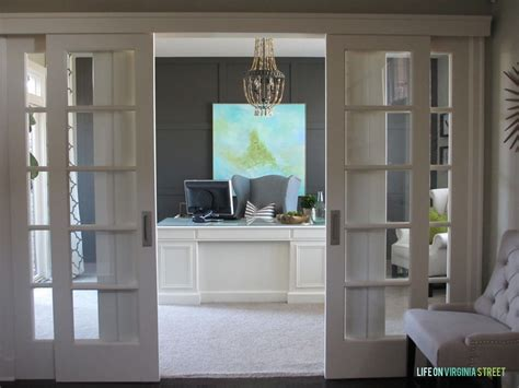 home office doors home office makeover reveal virginia doors and