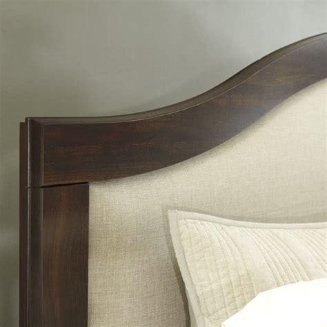 brown headboards ashley corraya upholstered queen panel headboard in brown