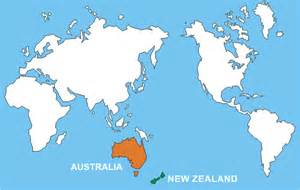 Where Is New Zealand On A World Map by World Map New Zealand And Australia Deboomfotografie