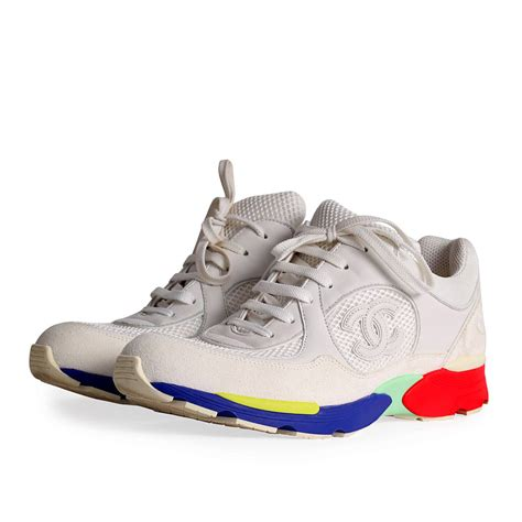 chanel sneakers chanel fabric sneakers with multicolor sole s 40 5 7